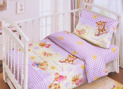 Комплект постельный в кроватку Fun Ecotex Сладкие сны / FE 10049