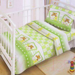 Комплект постельный в кроватку Fun Ecotex Милые сони / FE 10051