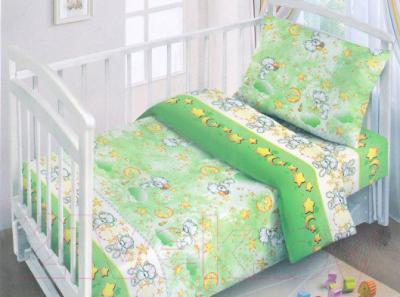 Комплект постельный в кроватку Fun Ecotex Сонный мишка / FE 10054