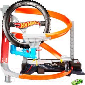 Автотрек гоночный Mattel Шиномонтажная мастерская / GJL16