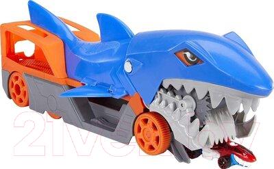 Автовоз игрушечный Hot Wheels Акула-транспортер / GVG36