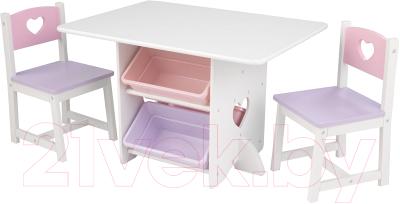 Комплект мебели с детским столом KidKraft Heart / 26913-KE