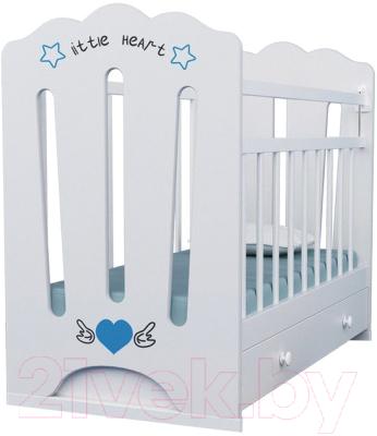 Детская кроватка VDK Little Heart маятник-ящик
