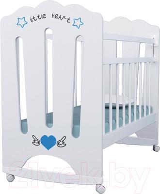 Детская кроватка VDK Little Heart колесо-качалка