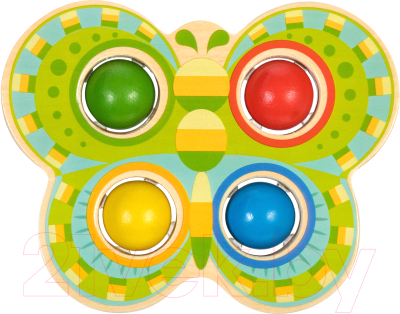 Развивающая игра МДИ Стучалка Бабочка / LL168