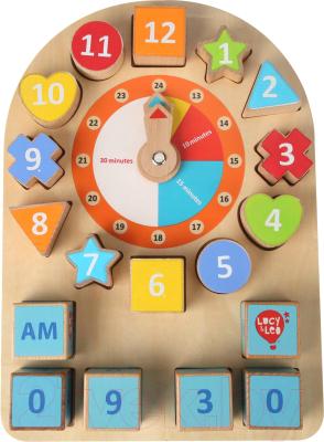 Развивающая игра МДИ Бизиборд Часы / LL232