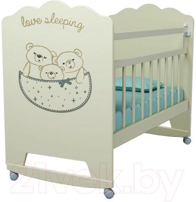 Детская кроватка VDK Love Sleeping колесо-качалка