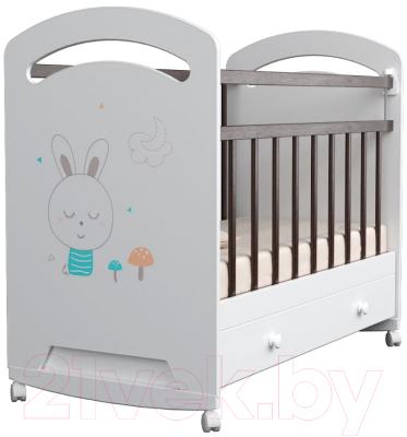 Детская кроватка VDK Lucy колесо-качалка и ящик