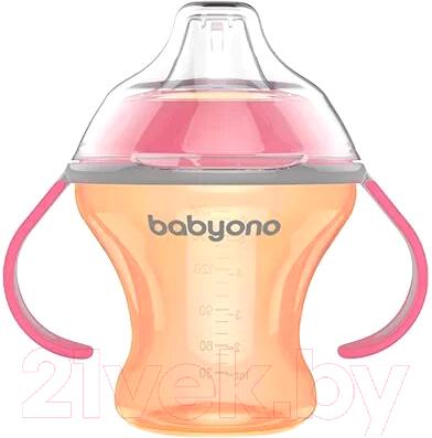 Поильник BabyOno Natural Nursing c мягким носиком 3м+ / 1456