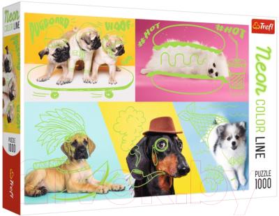 Пазл Trefl Neon Color Line Отпадные собаки / 10578