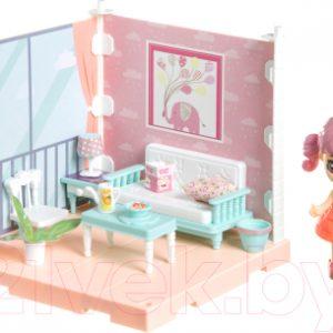 Комплект аксессуаров для кукольного домика Bondibon Кукольный уголок и куколка Oly. Гостиная / ВВ4490