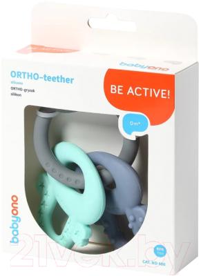 Прорезыватель для зубов BabyOno Ortho / 487