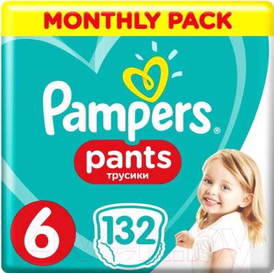 Подгузники-трусики детские Pampers Pants 6