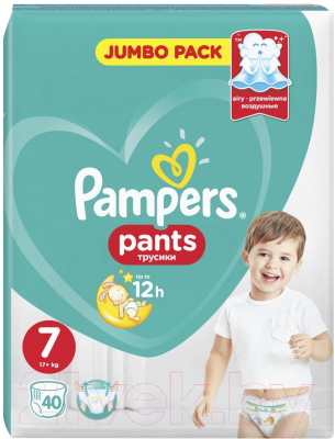 Подгузники-трусики детские Pampers Pants 7