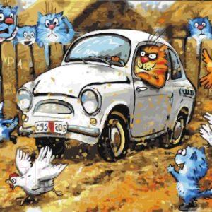 Картина по номерам Picasso Автомобильный переполох (PC4050416)