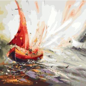 Картина по номерам Picasso Алый парус (PC4050609)