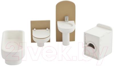Комплект аксессуаров для кукольного домика Paremo Ванная комната / PDA417-04