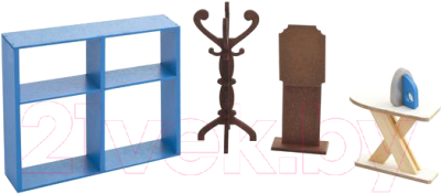 Комплект аксессуаров для кукольного домика Paremo Гардеробная / PDA417-05