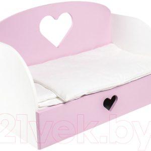 Аксессуар для куклы Paremo Диван-кровать Сердце Мини / PFD120-16M