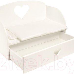 Аксессуар для куклы Paremo Диван-кровать Сердце / PFD120-18