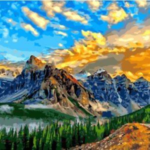 Картина по номерам Picasso Альпийский рассвет
