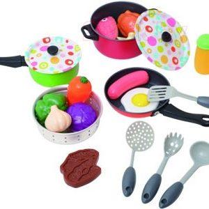Набор игрушечной посуды PlayGo Металлический набор посуды / 6988