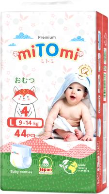 Подгузники-трусики детские MiTomi Premium L от 9 до 14кг