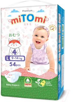 Подгузники детские MiTomi Premium L от 9 до 14кг