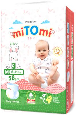Подгузники-трусики детские MiTomi Premium M от 6 до 11кг