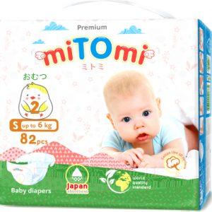 Подгузники детские MiTomi Premium S до 6 кг