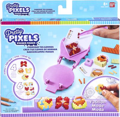 Набор для творчества Bandai Pretty Pixels. Фигурные ластики. Любимые увлечения / 38520
