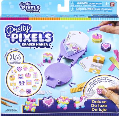 Набор для творчества Bandai Pretty Pixels. Фигурные ластики. Много друзей не бывает / 38530