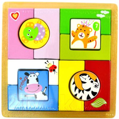 Развивающая игра Ningbo Рамка вкладыш. Животные / МТQ1374
