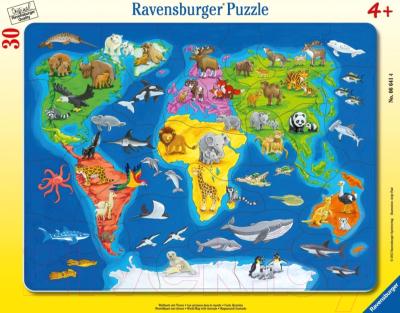 Пазл Ravensburger Карта мира с животными / R06641