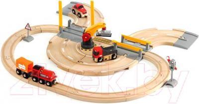 Железная дорога игрушечная Brio Rail & Road Crane Set 33208