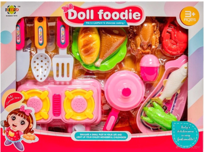 Набор игрушечной посуды Nimao Юный повар / RM191A-3