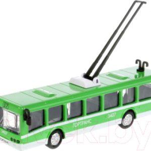Троллейбус игрушечный Технопарк SB-16-65-GN-WB