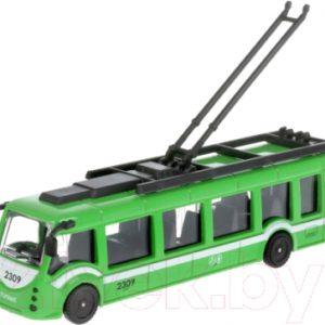 Троллейбус игрушечный Технопарк SB-18-10-GN-WB