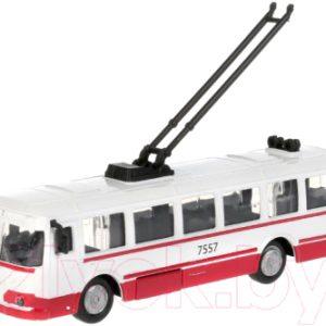 Троллейбус игрушечный Технопарк SB-18-33-WB