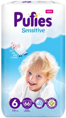 Подгузники детские Pufies Sensitive Extra Large 13+ кг