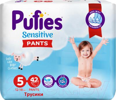 Подгузники-трусики детские Pufies Sensitive Junior 12-18кг