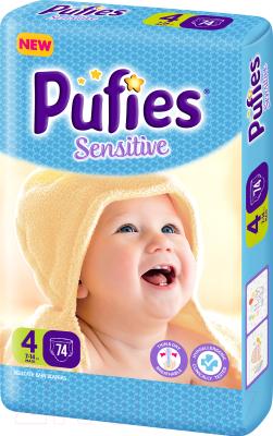 Подгузники детские Pufies Sensitive Maxi 4