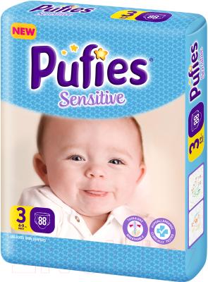 Подгузники детские Pufies Sensitive Midi 3