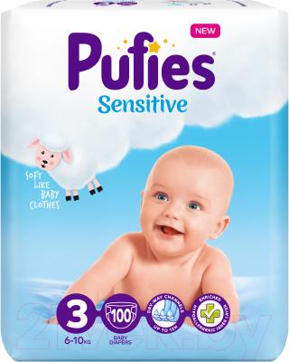 Подгузники детские Pufies Sensitive Midi 6-10кг