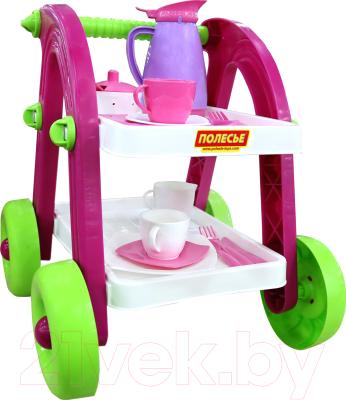 Набор игрушечной посуды Полесье Сервировочный столик Stars Chef / 44655