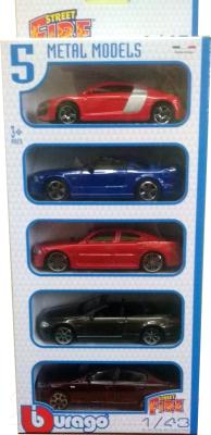 Набор игрушечных автомобилей Bburago Street Fire / 18-30005