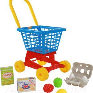 Тележка игрушечная Полесье Supermarket №1 с набором продуктов / 67890
