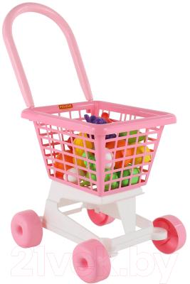 Тележка игрушечная Полесье Supermarket №1 с набором продуктов / 68477