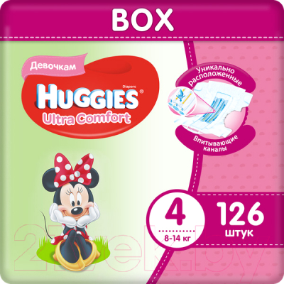Подгузники детские Huggies Ultra Comfort 4 Disney Girl