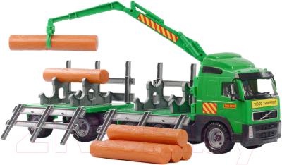 Лесовоз игрушечный Полесье Лесовоз с прицепом Volvo / 8725